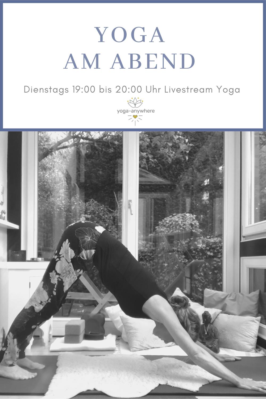 Yoga am Abend Livstream
